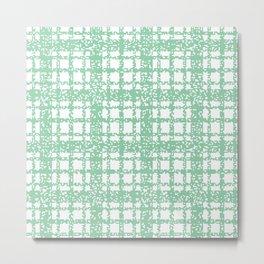8 Bit Plaid | Mint Metal Print
