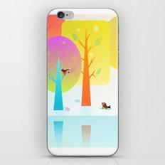 Winter Friends Meet In The Woods iPhone & iPod Skin