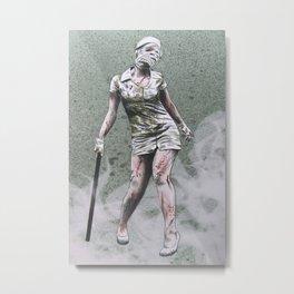 SILENT HILL ZOMBIE NURSE Metal Print