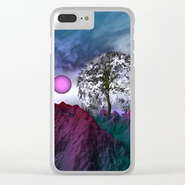 where the sky is different -24- Clear iPhone Case