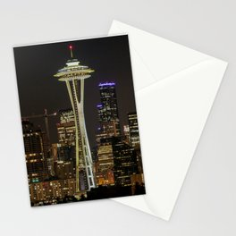 Seattle Space Needle & City Lights Stationery Cards