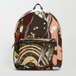 Dreaming of my Childhood Couch - Earth Tones Fabric Pattern Backpack