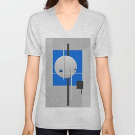 Abstract Composition 630 Unisex V-Neck