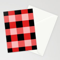 Red squares Stationery Cards