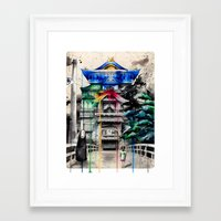spirited away Framed Art Prints featuring Spirited Away by Sandra Ink
