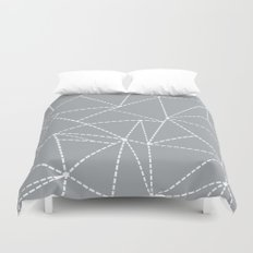 Abstract Dotted Lines Grey Duvet Cover