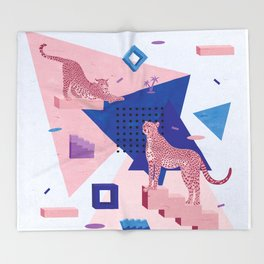Cheetahs in Memphis I. Throw Blanket