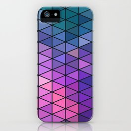 Purple Geometric Pattern iPhone Case
