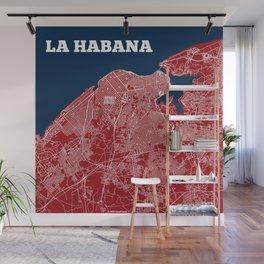 Havana Streets Map 2016 Wall Mural