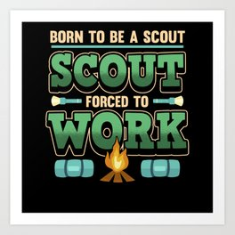 Scout Camping Scouting Nature Campfire Gift Art Print