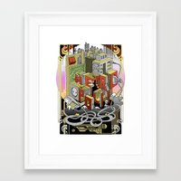 metropolis Framed Art Prints featuring Metropolis  by KRNago