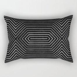 Modern abstract black painting Rectangular Pillow