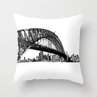 sydney Throw Pillows featuring sydney by Jette Geis
