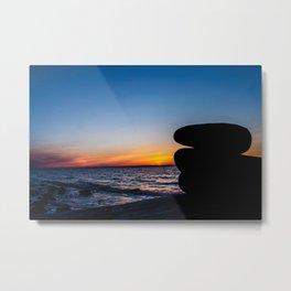 Sunset Stones Metal Print