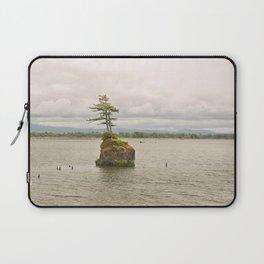 Altoona Rock Seastack Island Columbia River Oregon Washington Northwest Landscape Forest Trees Laptop Sleeve
