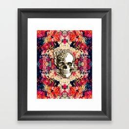 You are not here Day of the Dead Rose Skull. Framed Art Print