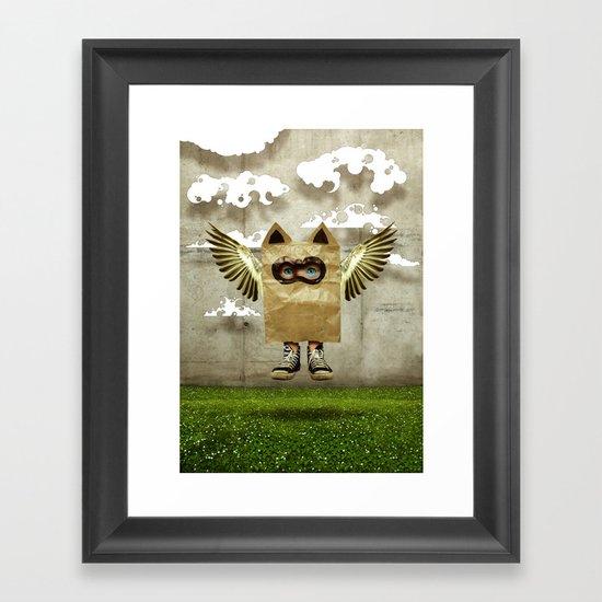 Fly try Framed Art Print