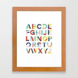 Modern Alphabet Print Framed Art Print