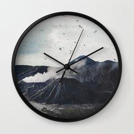 Birds Over Mount Bromo, Indonesia Wall Clock