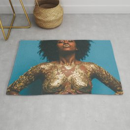 Gold and Skin Rug