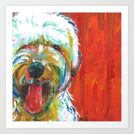 Soft-Coated Wheaten Terrier // Colorful  Art Print