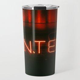 Neon sign inspiration - ENTER Travel Mug