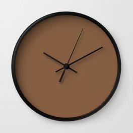 Darkwood Brown Wall Clock
