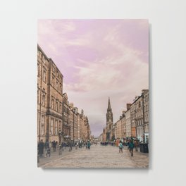 High Street, Edinburgh, Scotland Metal Print