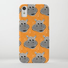 Splatter Painted Hippos iPhone Case