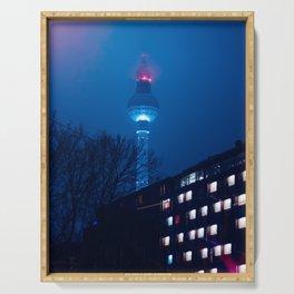 Berlin TV Tower at Night Serving Tray