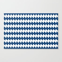 jaggered and staggered in monaco blue Canvas Print