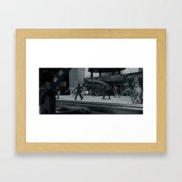 Cowboys Vs. Indians Vs. Basilisk Framed Art Print