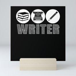 Clerk Author Typewriter Writing Tool Mini Art Print