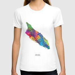 Aruba Watercolor Map T-shirt