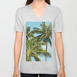 Coconut Palm Trees Sugar Beach Kihei Maui Hawaii Unisex V-Neck