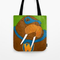 walrus Tote Bags featuring Walrus by subpatch