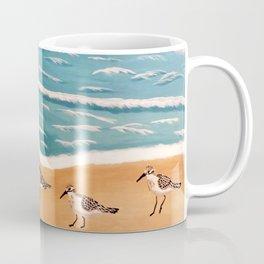 Sand Pipers on the Beach Coffee Mug