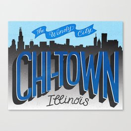 Chicago - The Windy City Canvas Print