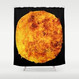 Red Hot Sun Shower Curtain