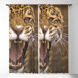 Marvelous Amazing Leopard Roaring Loud Head Close Up Ultra HD Blackout Curtain
