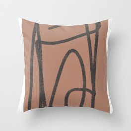Line of thought 2 Throw Pillow