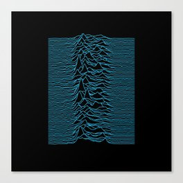 Joy Division - Unknown Pleasures [Blue Lines] Canvas Print