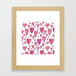 Watercolor My Heart (Large) by Deirdre J Designs Framed Art Print