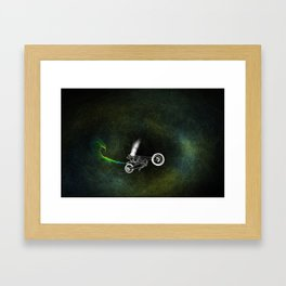 Motorcycle Immaculate Framed Art Print