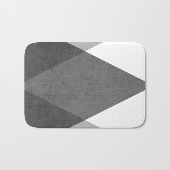 black and white triangles Bath Mat