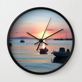 Little Port of Croatia Wall Clock