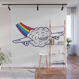 Cloud Plane Wall Mural