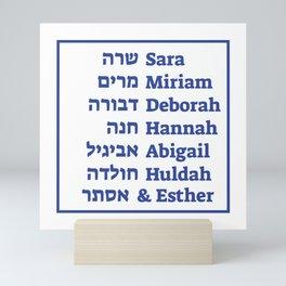 Jewish Female Prophets in the Hebrew Scriptures Mini Art Print