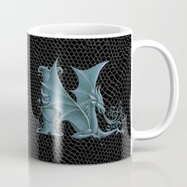 """Dragon Letter N, from """"Dracoserific"""", a font full of Dragons Coffee Mug"""