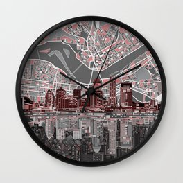 louisville kentucky skyline Wall Clock